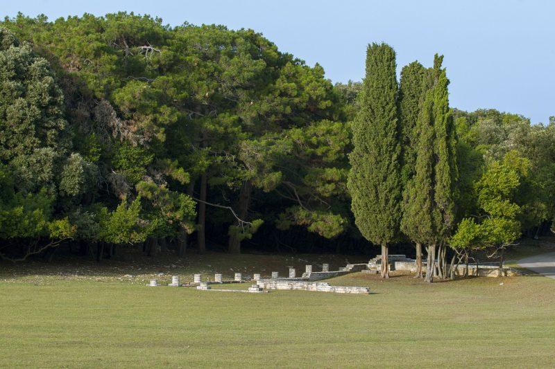 Ostaci iz rimskog, bizantskog i doba Mlečana vidljivi su na Brijunima